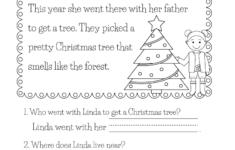 Christmas Language Worksheets