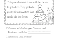 Free Christmas Reading Worksheets Printables