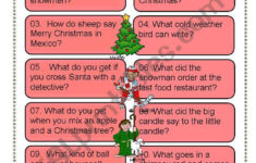Christmas Riddles For Everyone – Esl Worksheetdturner