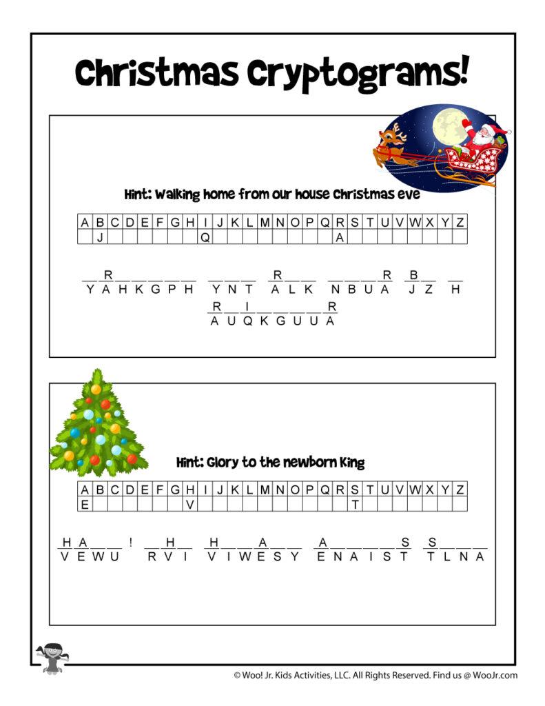 Christmas Secret Code Puzzle   Woo! Jr. Kids Activities