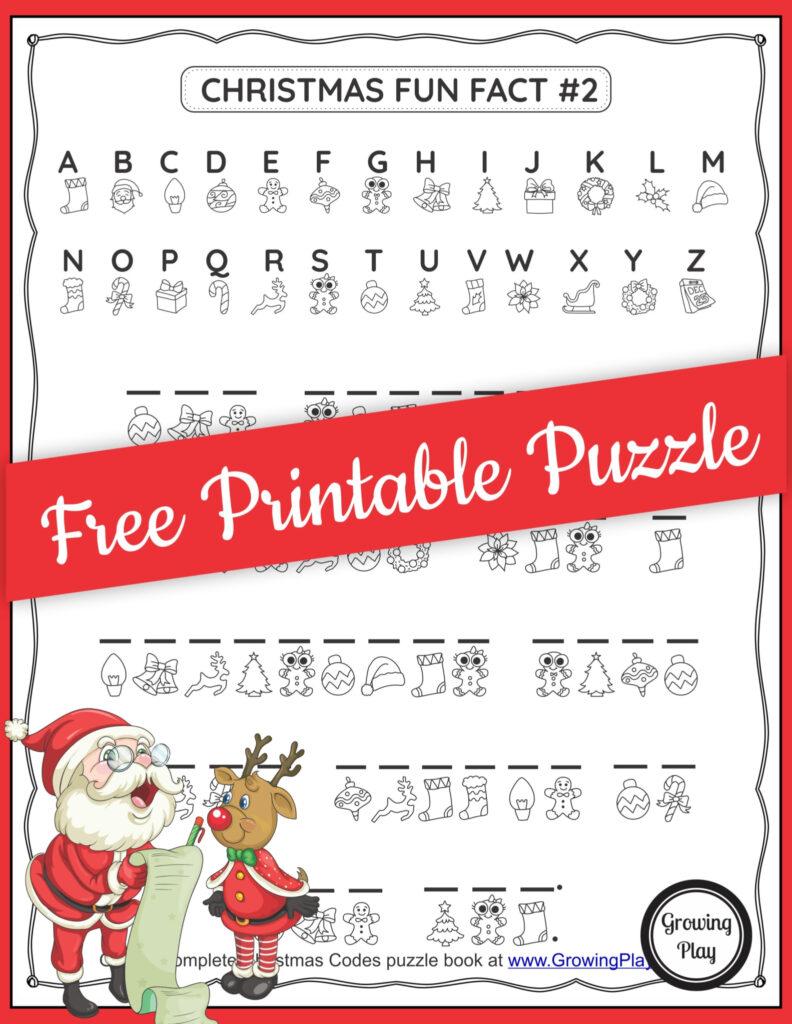 Christmas Secret Code Worksheet   Free Printable   Growing Play