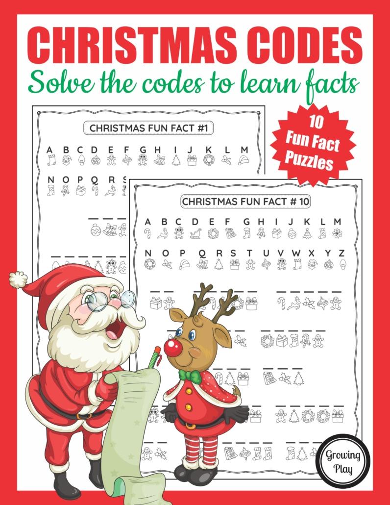 Christmas Secret Code Worksheet - Free Printable - Growing Play