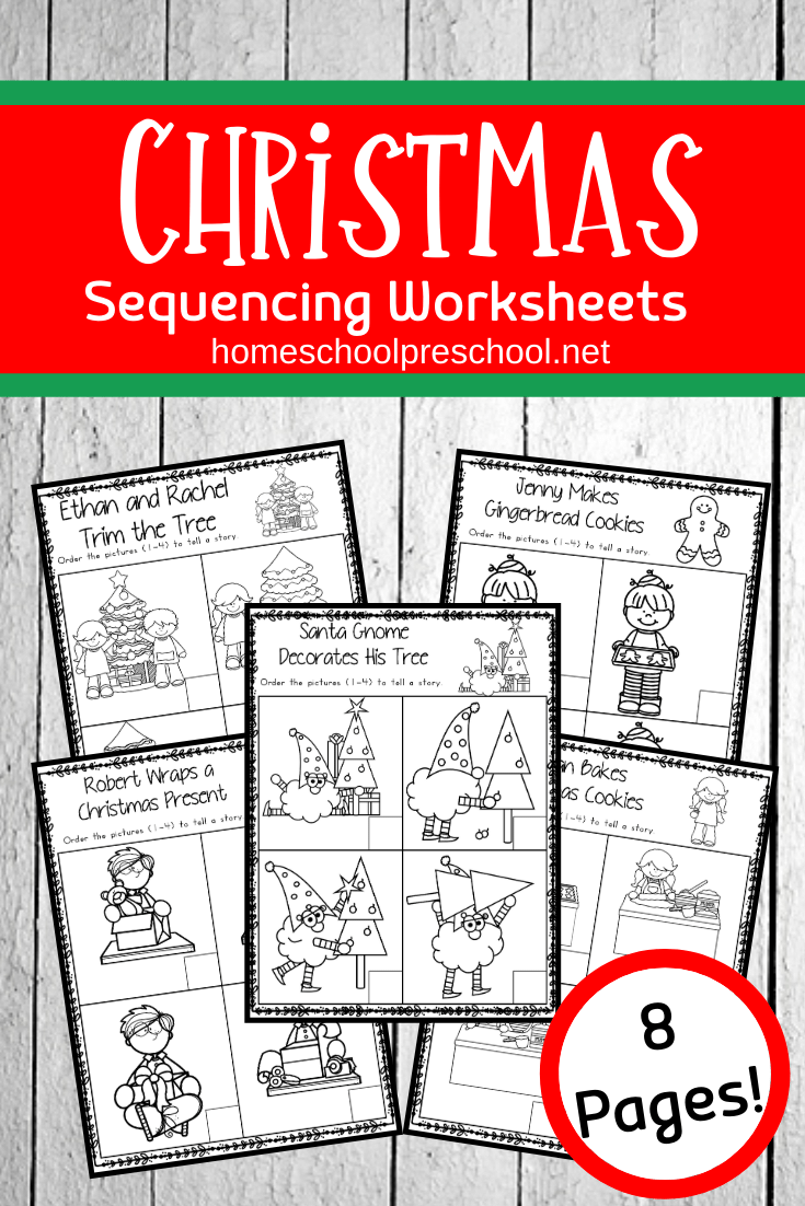 Christmas Sequence Worksheet Pack   Sequencing Worksheets