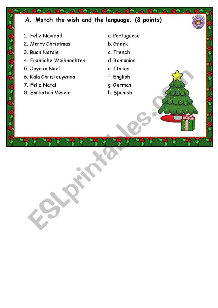 Christmas Skills Circuit   Esl Worksheetsilvia.patti
