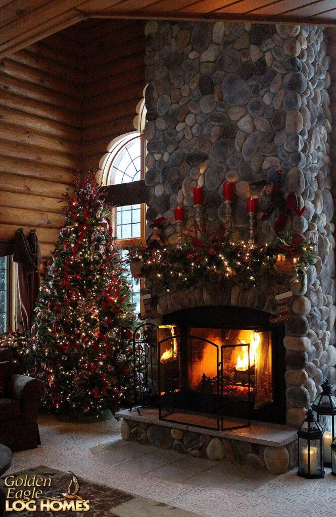 Christmas #snow #holidays #loghome #logcabin #loghomes