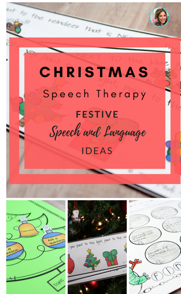 Christmas Speech Therapy Activities: Themed Speech And