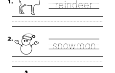 Christmas Spelling Worksheet – Free Kindergarten Holiday