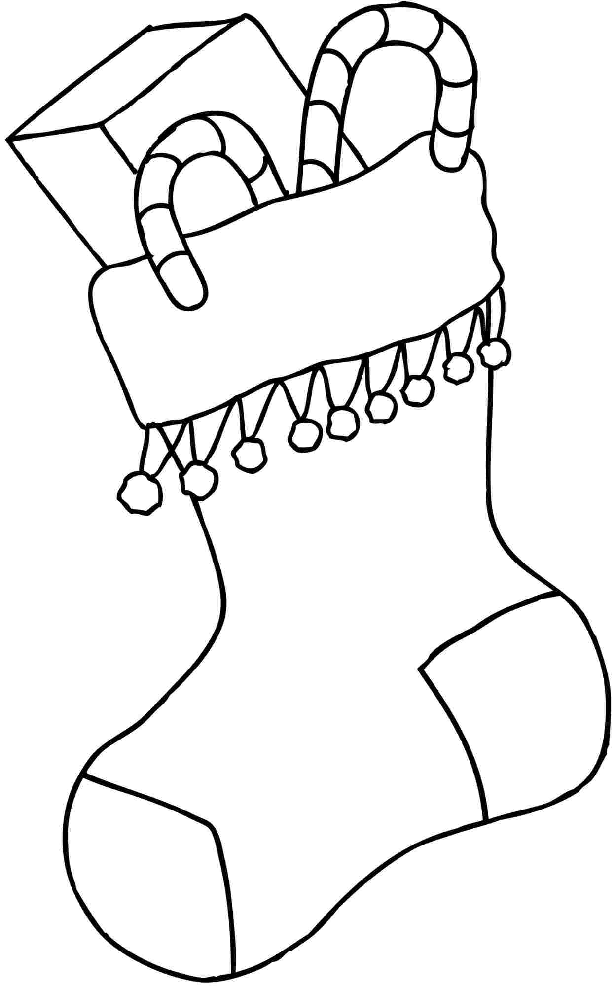 Christmas Stocking Coloring Best For Kids Socks Candy Canes