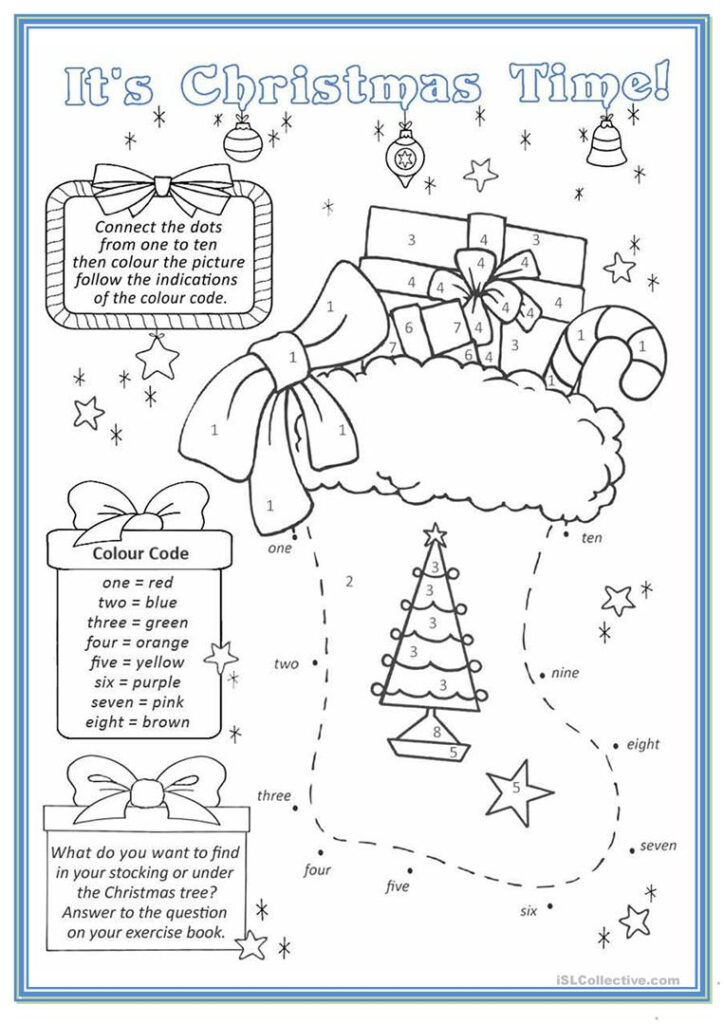 Christmas Stocking   English Esl Worksheets For Distance