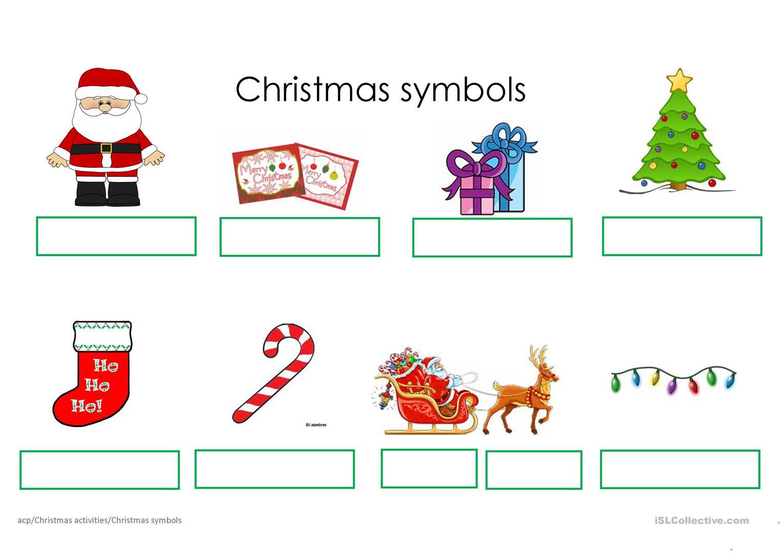 Christmas Symbols - English Esl Worksheets For Distance