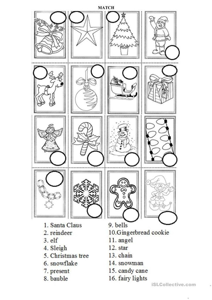 Christmas Symbols Practice   English Esl Worksheets For