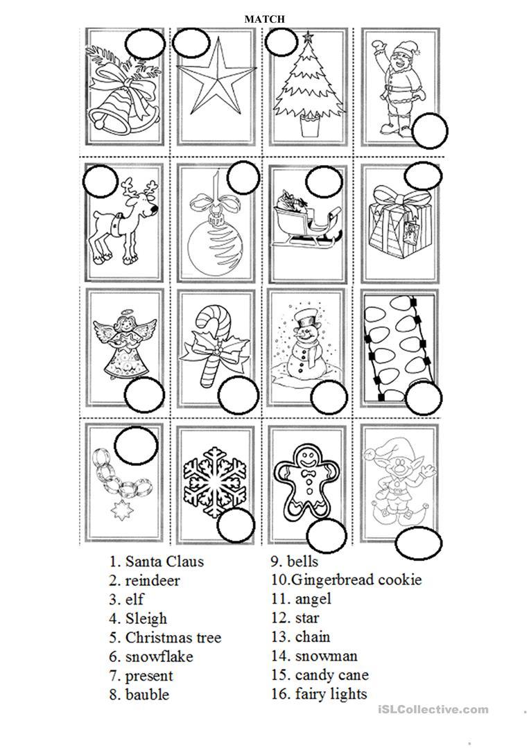 Christmas Symbols Practice - English Esl Worksheets For