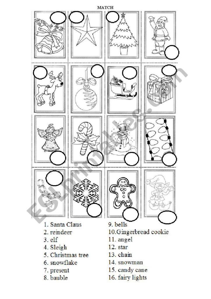 Christmas Symbols Practice   Esl Worksheetmati.rowce