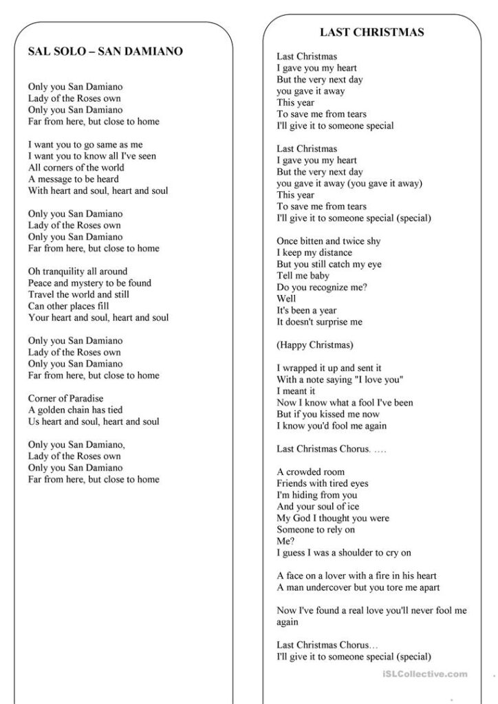 Christmas   The Lyrics Of 8 The Best Christmas Songs And