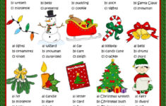 Christmas Vocabulary Pictures Worksheet