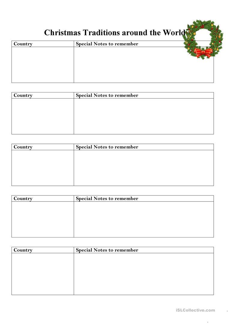 Christmas Traditions Around The World Lesson - English Esl
