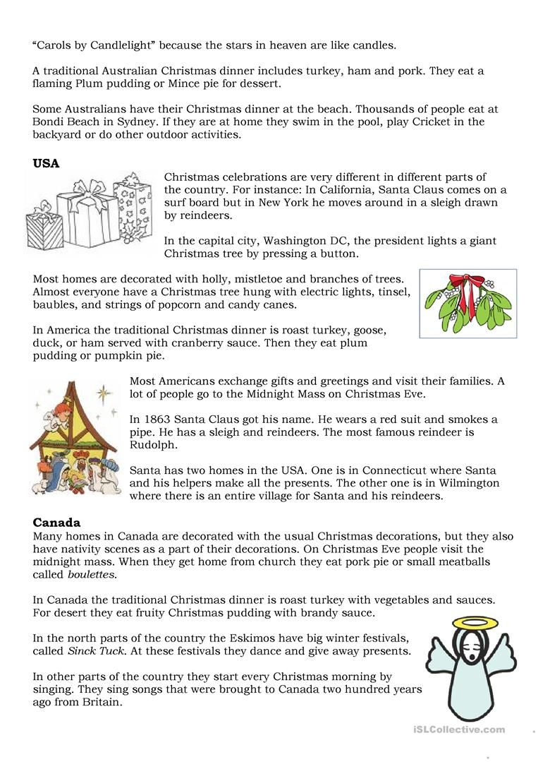Christmas Traditions | Christmas Worksheets, Christmas