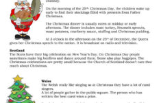 Christmas Worksheets Pdf Middle School