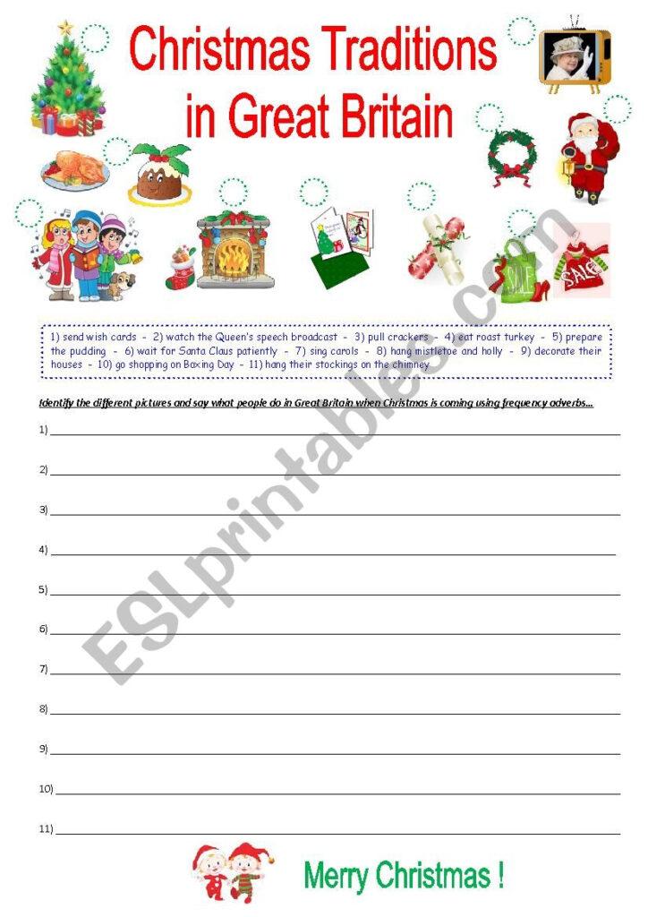 Christmas Traditions In Great Britain   Esl Worksheetkrysstl
