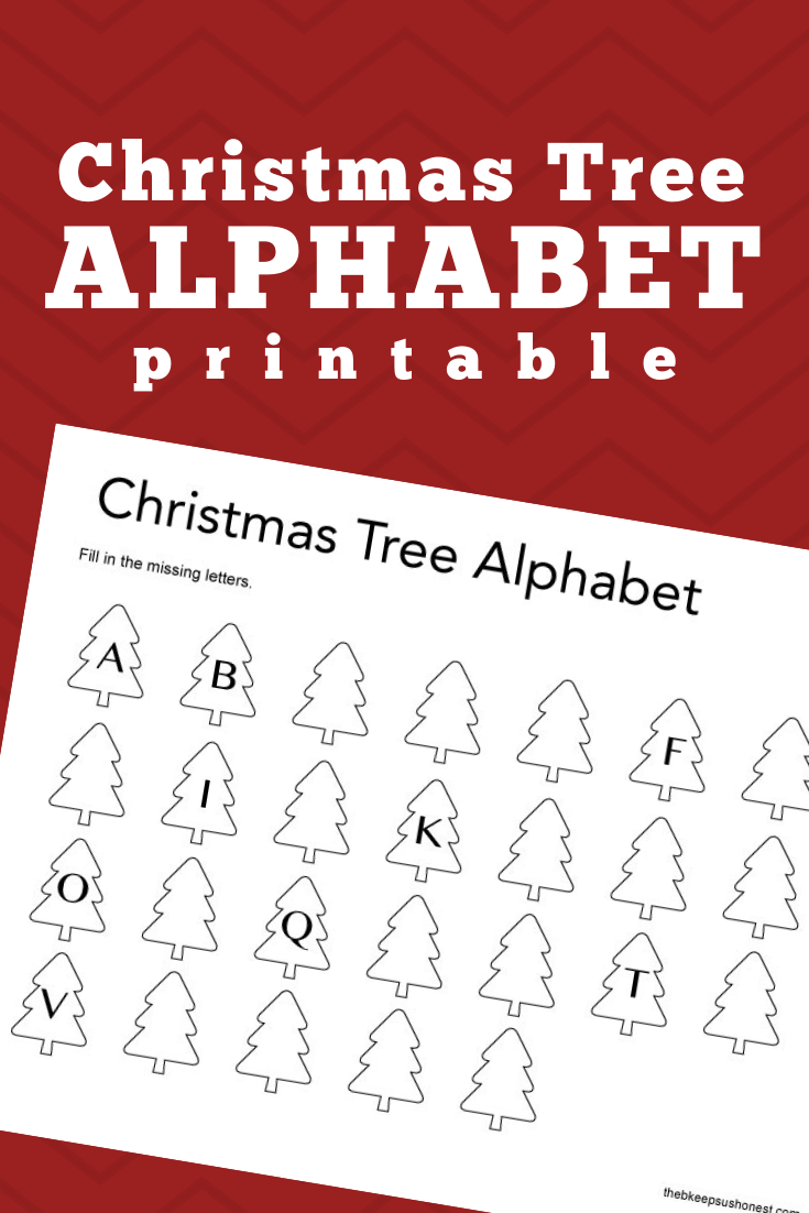 Christmas Tree Alphabet Free Preschool And Kindergarten Abc