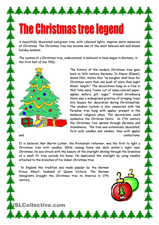 Christmas Tree | Christmas Reading Comprehension, Christmas