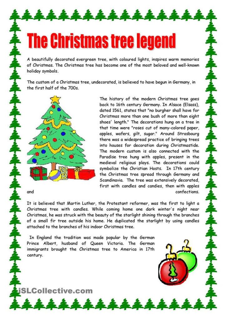 Christmas Tree   Christmas Reading Comprehension, Christmas