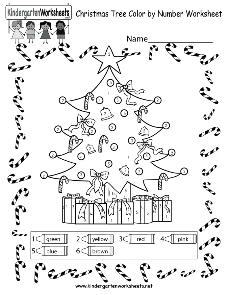 Christmas Tree Coloring Worksheet   Free Colornumber