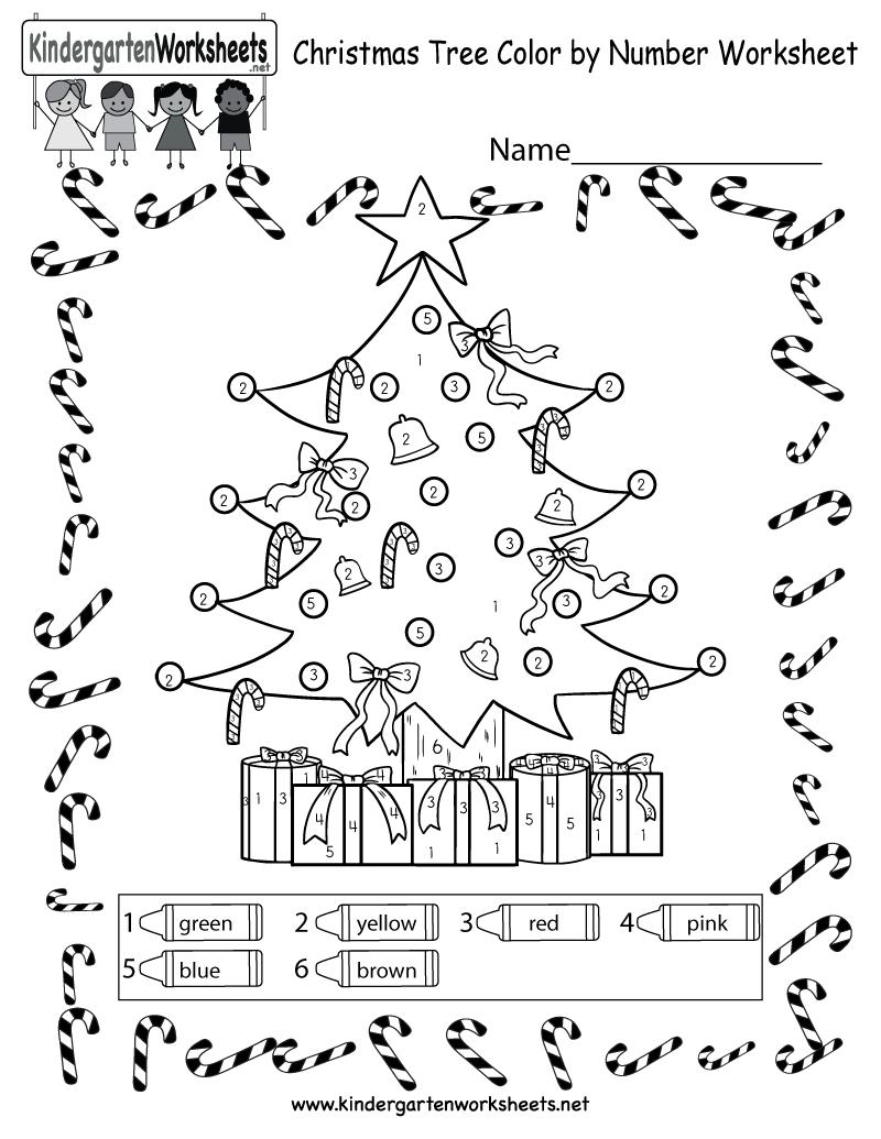 Christmas Tree Coloring Worksheet - Free Colornumber