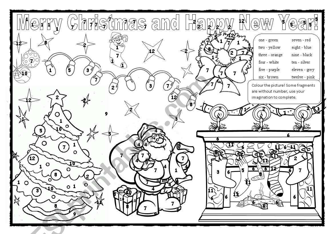 Christmas Tree Coloring Worksheet Printable Pages Worksheets