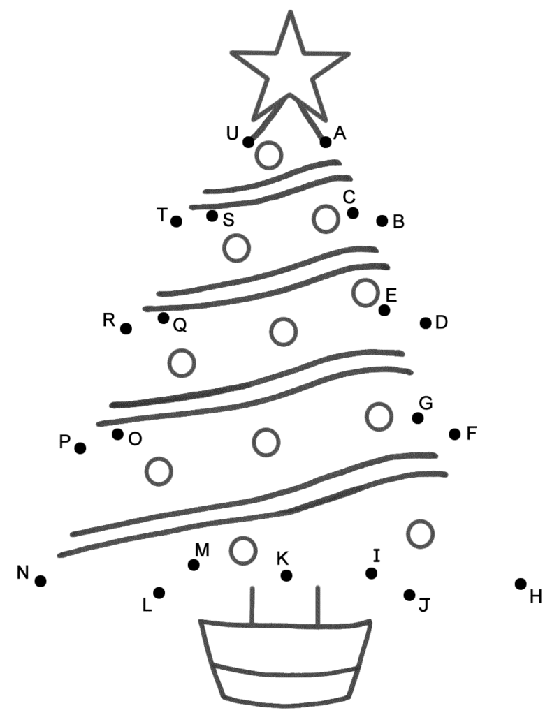 Christmas Tree   Connect The Dotscapital Letters (Christmas)