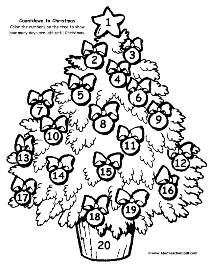 Christmas Tree Countdown Printable   A To Z Teacher Stuff