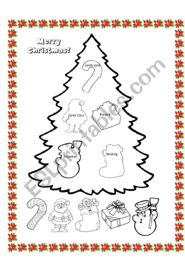 Christmas Tree   Esl Worksheetladydeath