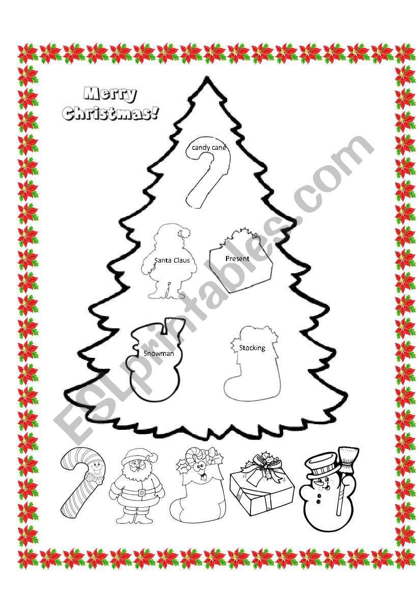 Christmas Tree - Esl Worksheetladydeath