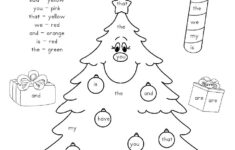 Christmas Tree Worksheets Kindergarten