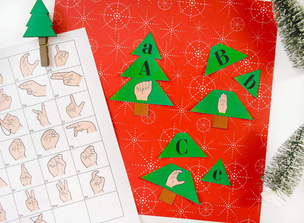 Christmas Tree Worksheet} Build A Tree Matching Letters To