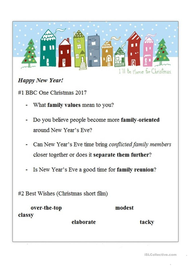 Christmas Videos Worksheet   English Esl Worksheets For