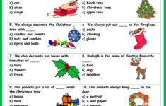 Christmas Vocabulary Worksheet Pdf