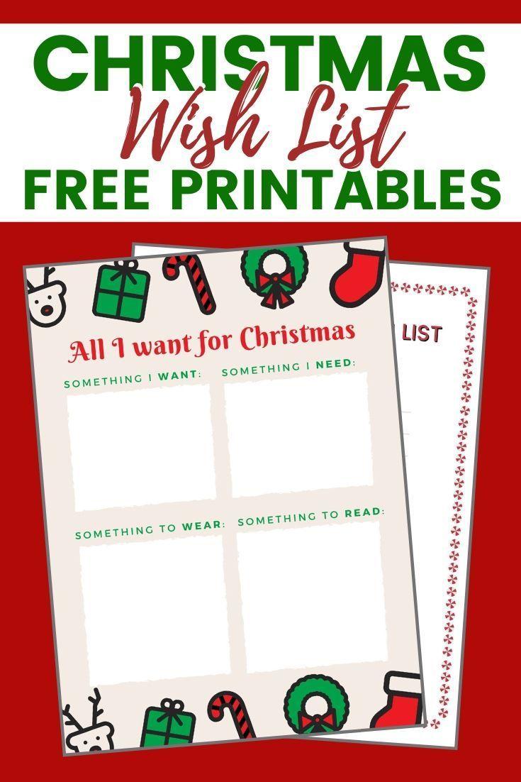 Christmas Wish List Free Printables For Kids | Christmas