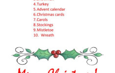 Christmas Word Scramble – English Esl Worksheets For