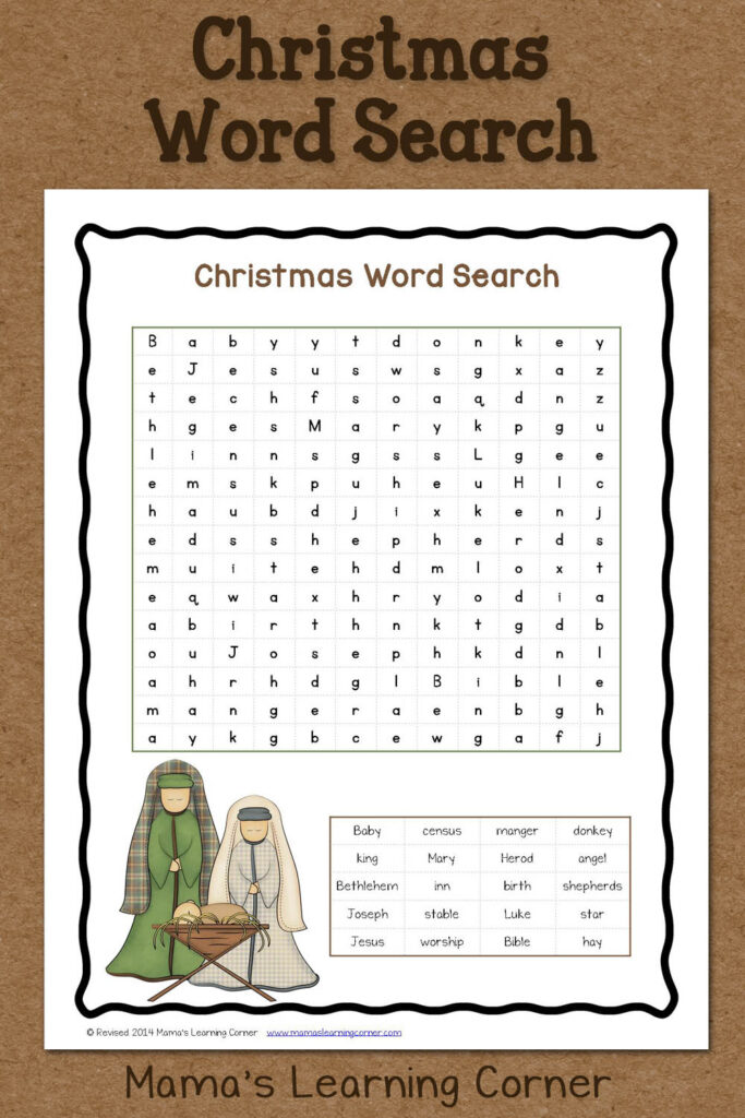 Christmas Word Search: Free Printable   Mamas Learning Corner