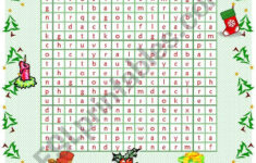 Christmas Wordsearch – Esl Worksheetmowells