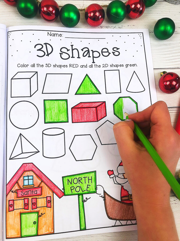 Christmas Worksheet Booklet   Kindergarten First Grade