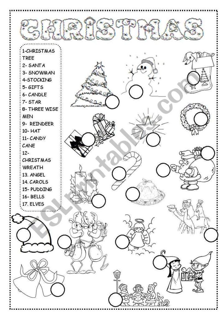 Christmas Worksheet   Esl Worksheetineta