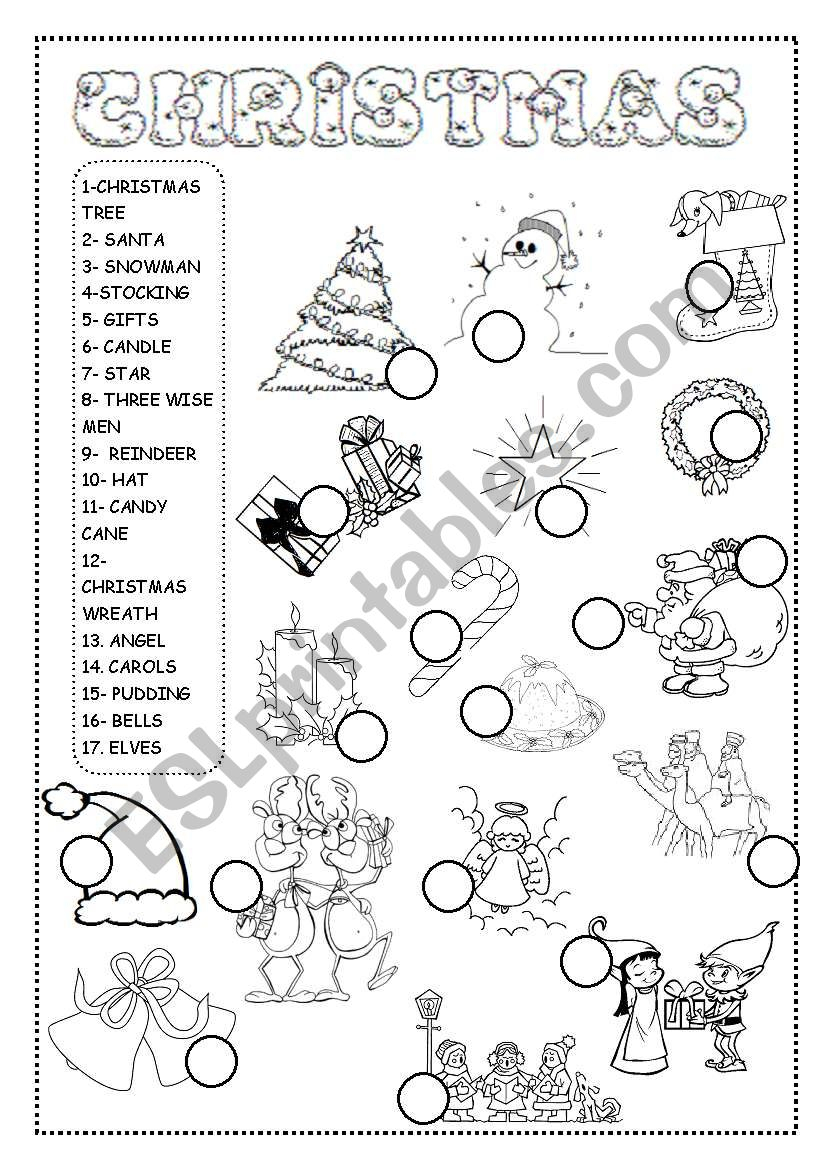 Christmas Worksheet - Esl Worksheetineta
