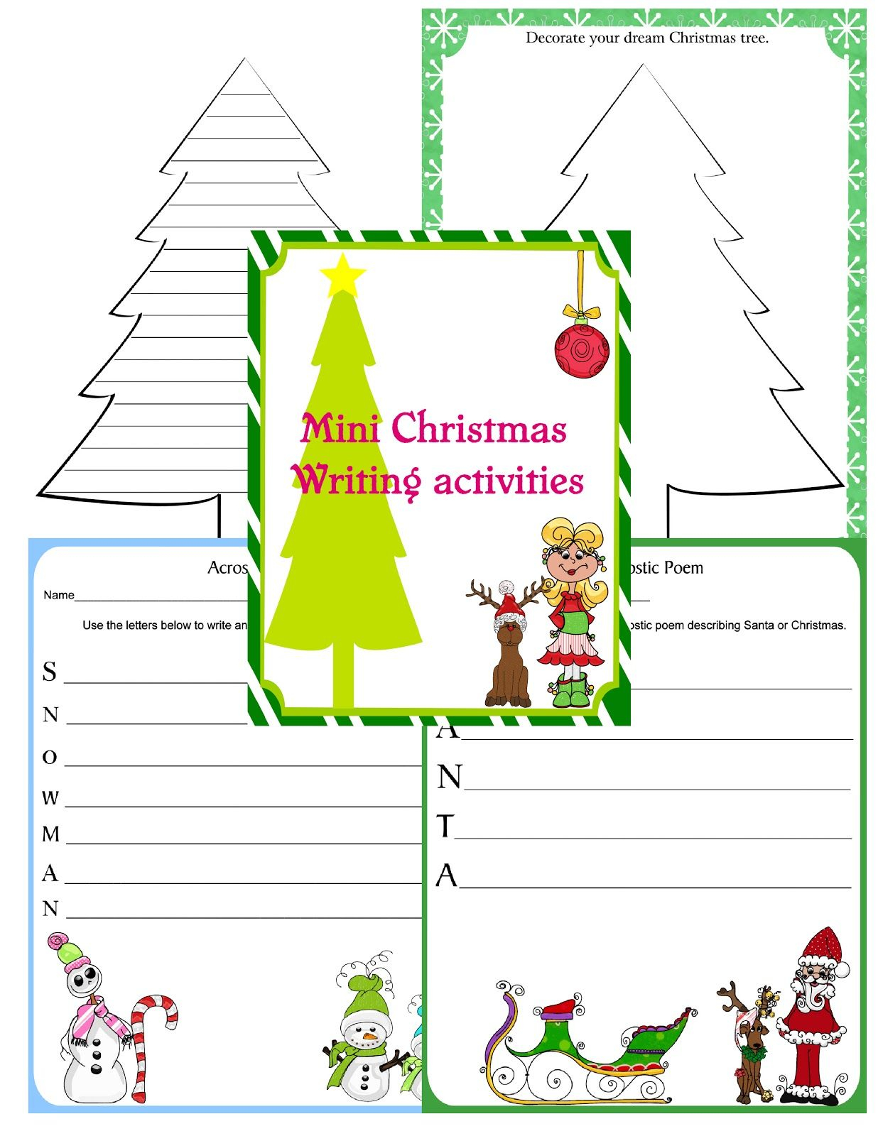 Christmas Writing Activities | Christmas Writing Activities