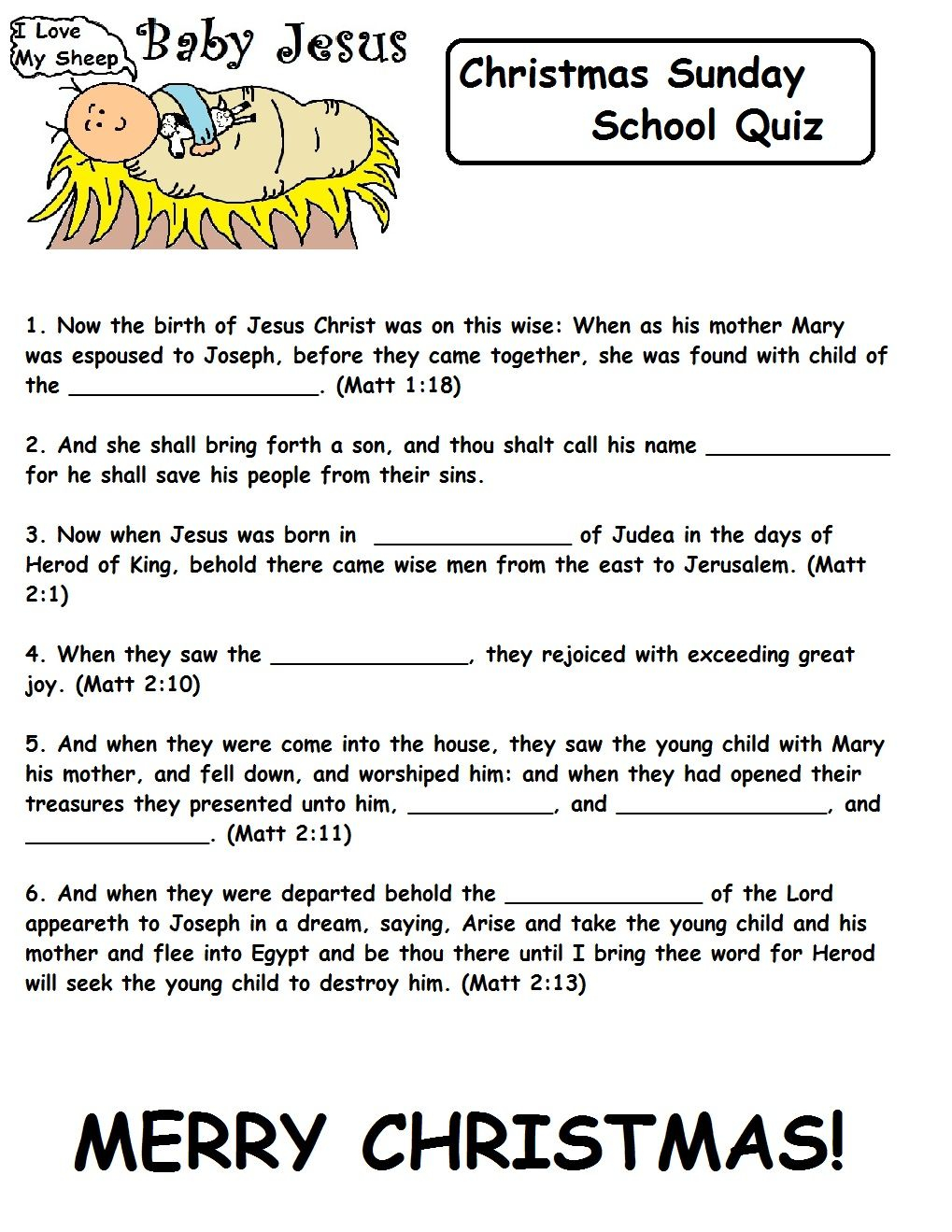 Church House Collection Blog: Christmas Quizzes For Sunday