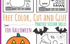 Halloween Glue Practice Worksheet