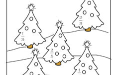 Christmas Fractions Worksheets