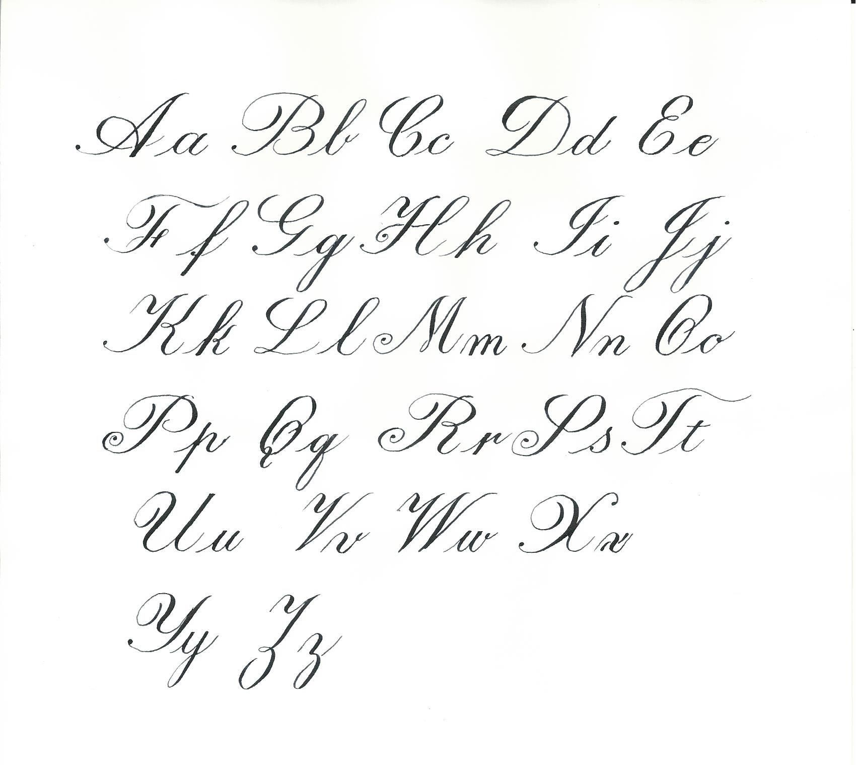 Coloring Book Free Printable Cursive Alphabet Letters To