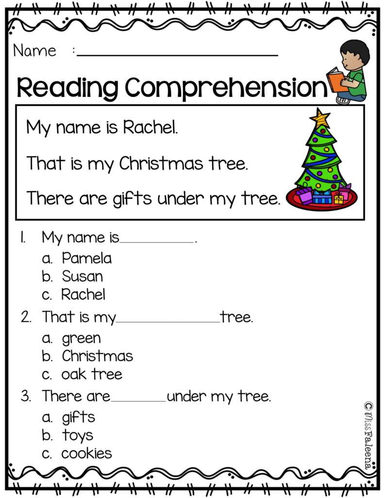 Coloring Book Reading Comprehension Practice 1St Grade